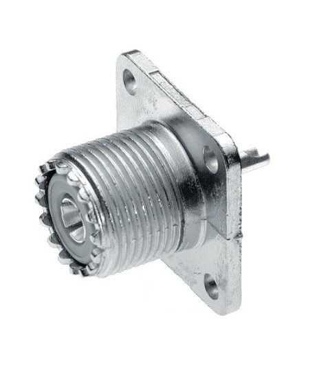 Connettore UHF con flangia