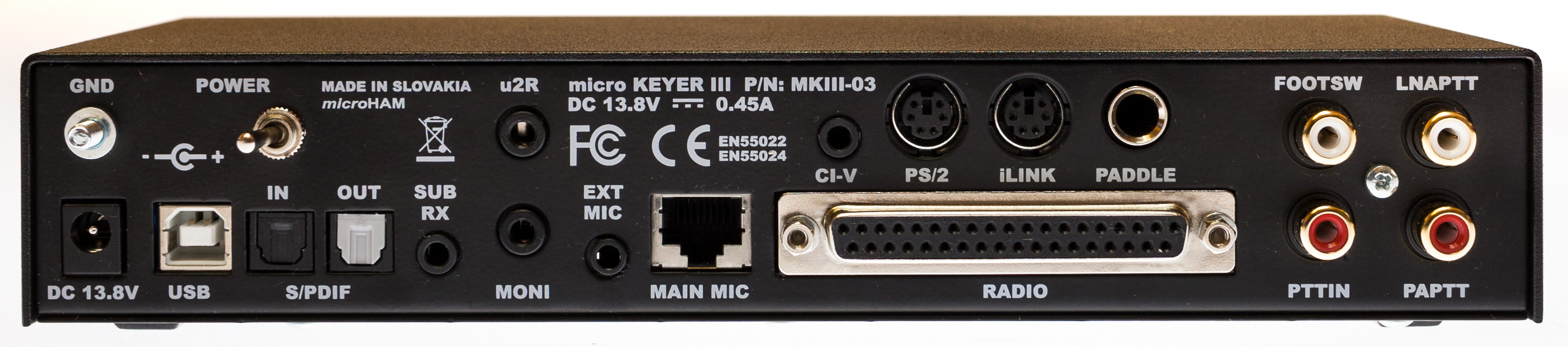 microham micro keyer iii rear